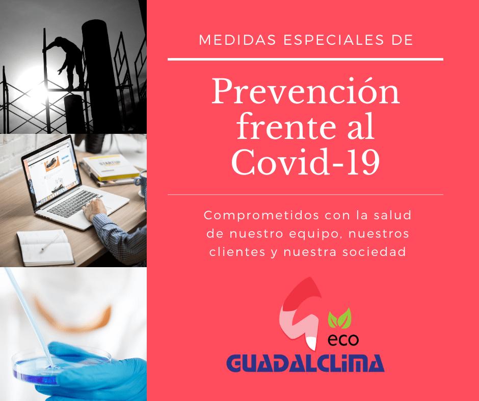 Medidas preventivas de Guadalclima ante el Covid-19