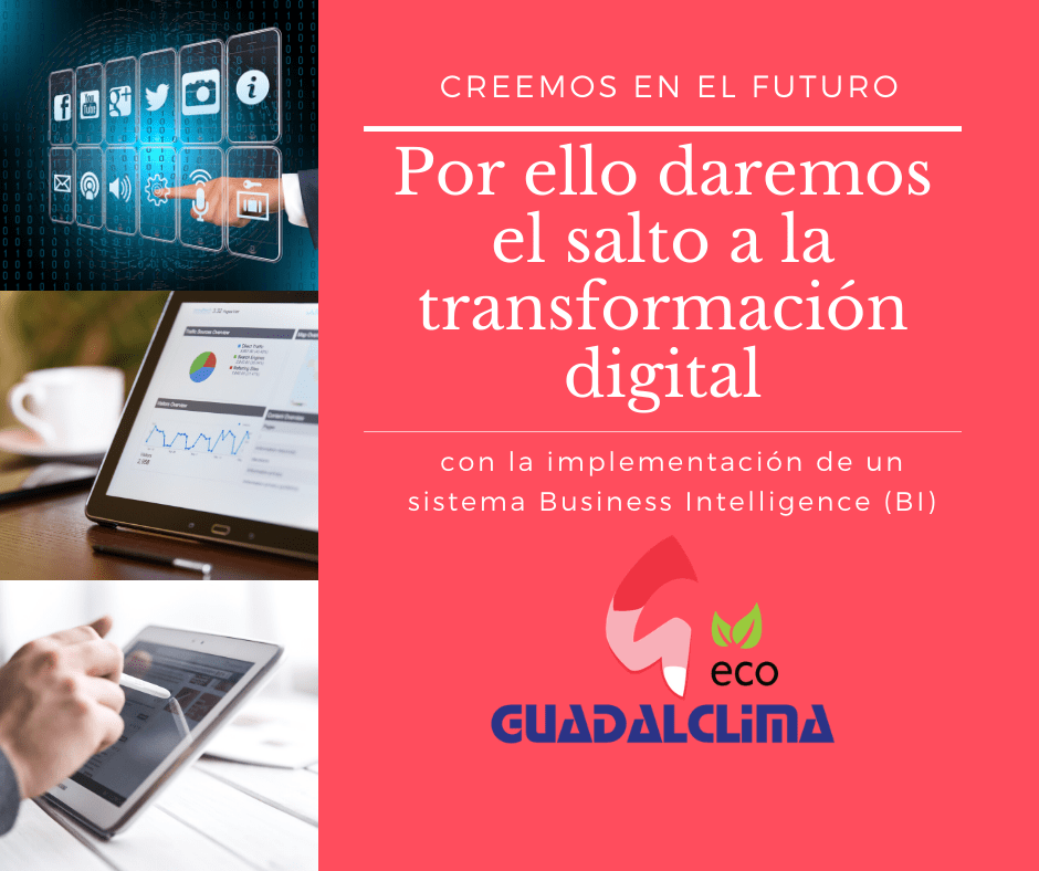 Guadalclima prepara su transformación digital con la implementación de un sistema Business Intelligence (BI)