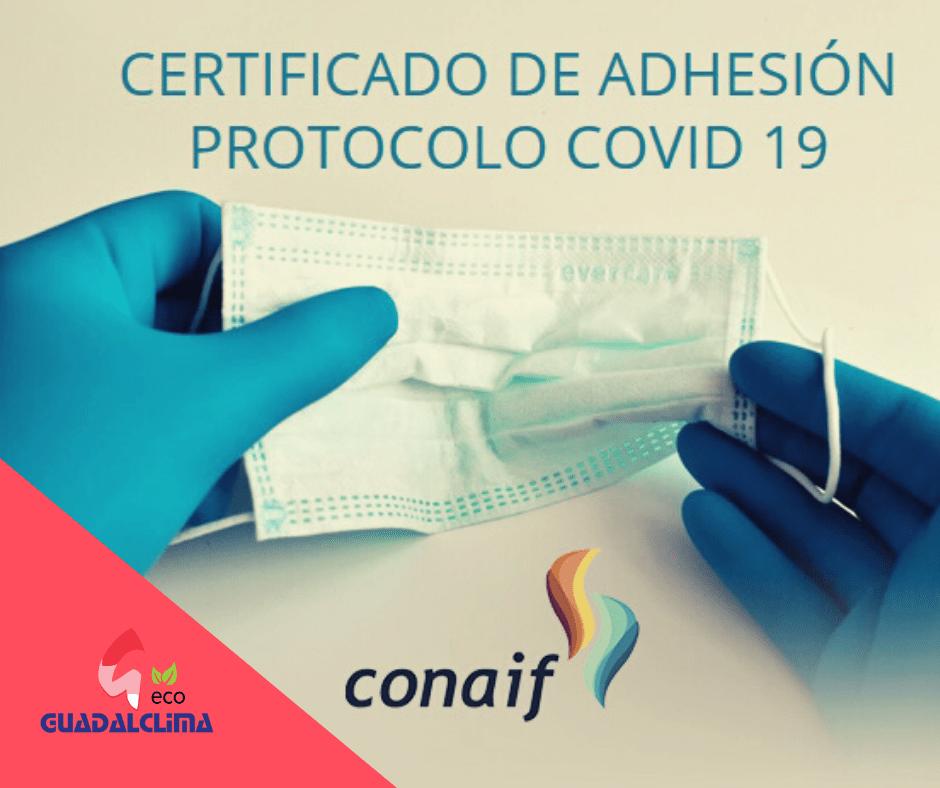 Guadalclima se certifica como empresa instaladora comprometida con la seguridad frente al coronavirus