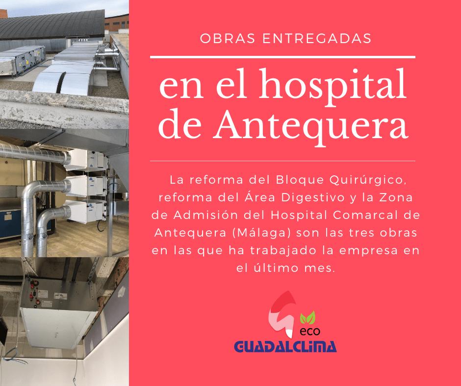 Guadalclima a punto de entregar tres obras en el hospital de Antequera