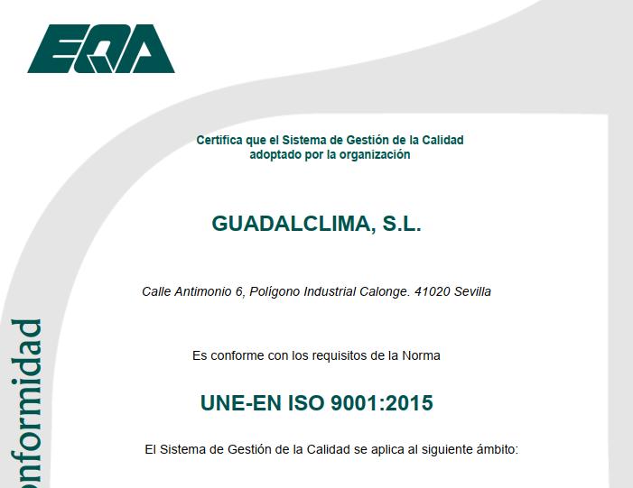 Guadalclima renueva sus votos con la calidad para el 2021