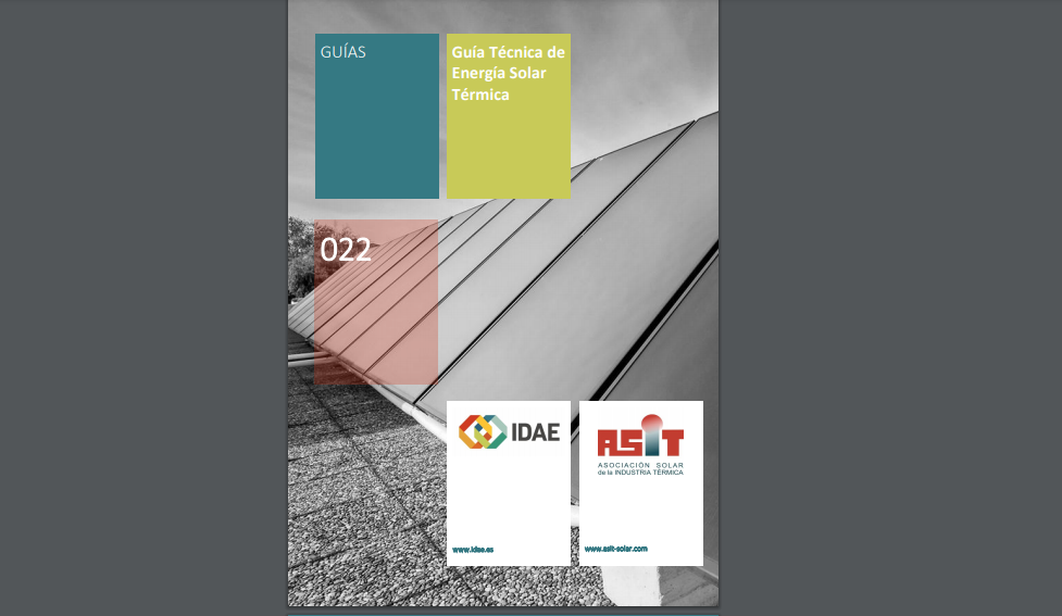 Guadalclima recomienda la Guía Técnica de Energía Solar Térmica