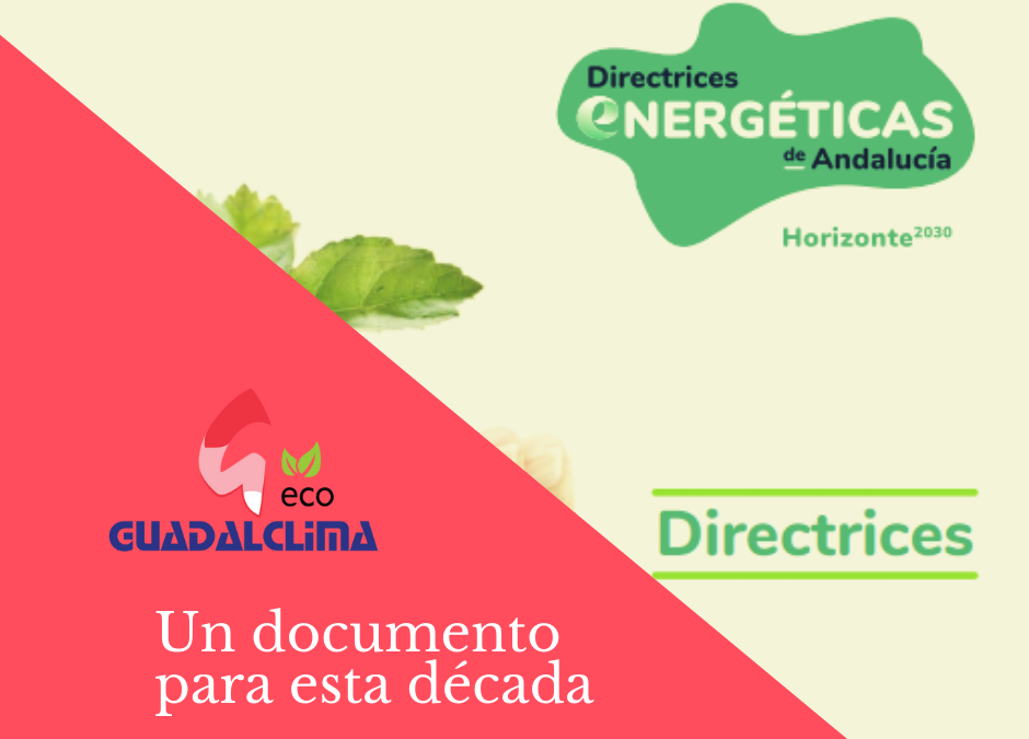 Un documento para esta década: Directrices Energéticas de Andalucía. Horizonte 2030.