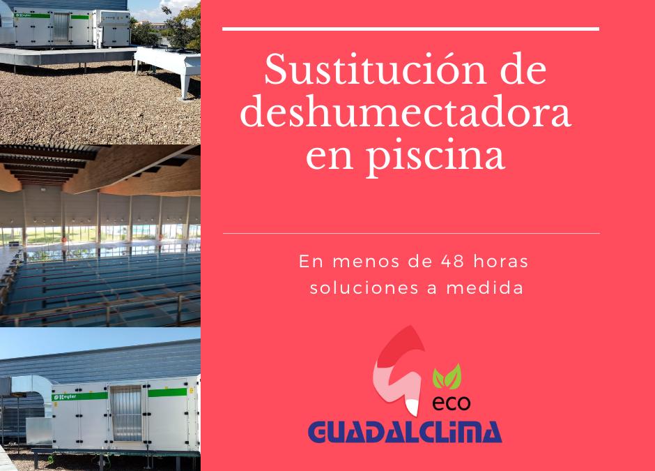Sustitución exprés de deshumectadora en piscina municipal de San José de la Rinconada